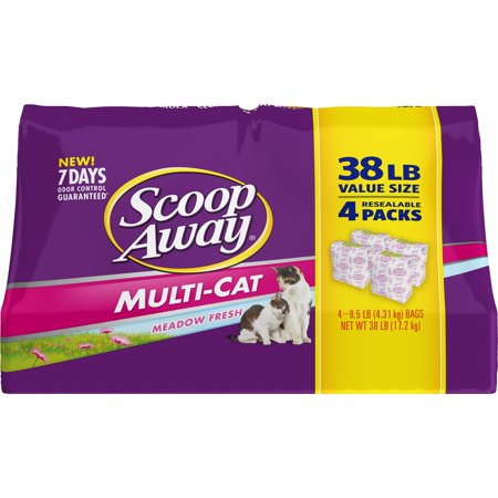 Scoop Away Multi-Cat, Scented Cat Litter, 38 lbs