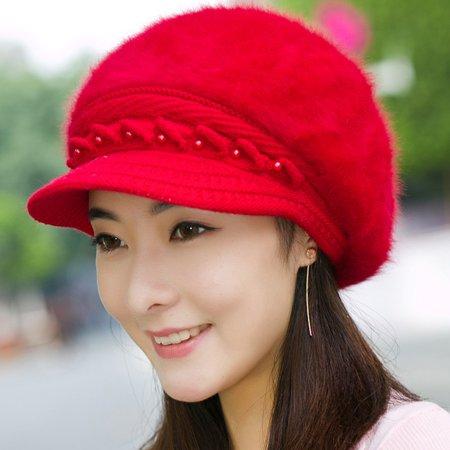 DZT1968 Women Winter Warm Cap Knitted Hat Beret Baggy Beanie Hat Slouch Ski Cap
