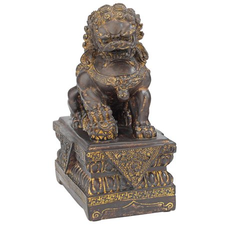Design Toscano Chinese Guardian Lion Foo Dog Statue: Male