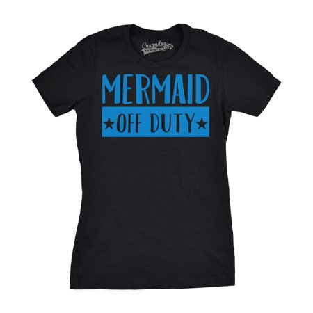 Crazy Dog TShirts - Womens Mermaid Off Duty Funny Magical Fairy Tale Under the Sea T shirt