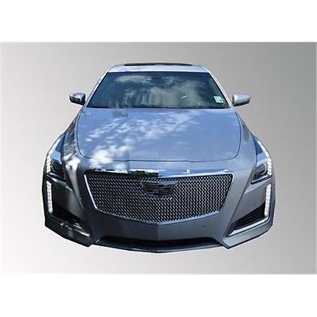 - International Trim Tfp 68096GI Mesh Grille Overlay Insert Abs Plated Chrome 2015-16