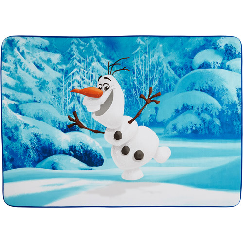 "Frozen Olaf 'Let's Ride' Heat Transfer Accent Rug, 3'4"" x 4'8"""