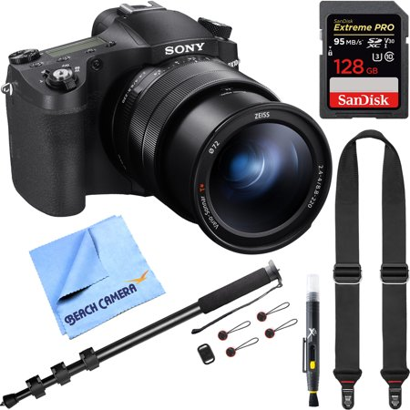 Sony Cyber-Shot RX10M IV Mirrorless 20 1 MP 4K Video Camera DSC-RX10M4 and  ZEISS 24-600mm F 2 4-F4 Ultra-Zoom Lens Bundle with Peak Strap Monopod