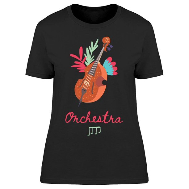 Double Bass Contrabass Tee Women's -Image by Shutterstock