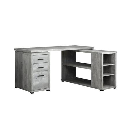 COMPUTER DESK - GREY WOOD GRAIN L/R FACING - Gray Corner Desk