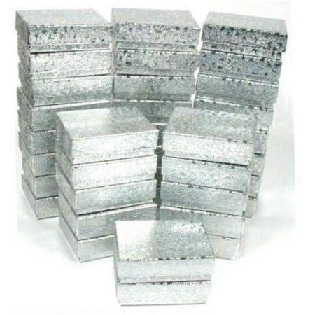 (36 Cotton Boxes Silver Pendant Charm Jewelry Displays 2 1/8