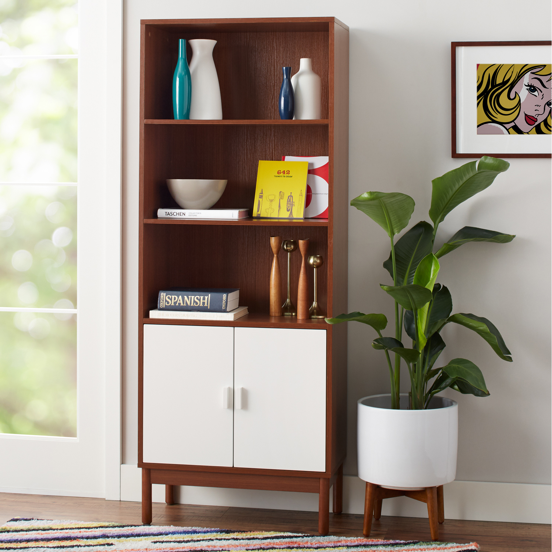 Admirable Baxter 5 Shelf Bookcase With Doors Walmart Com Uwap Interior Chair Design Uwaporg
