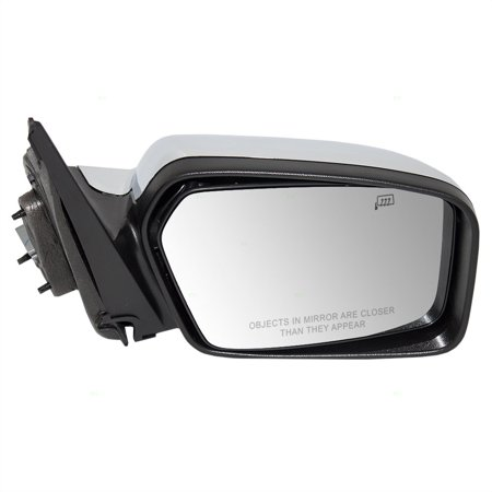 - Passengers Power Side View Mirror Heated Memory Puddle Lamp Black Base w/ Chrome Cover Replacement for Lincoln 6H6Z17682B