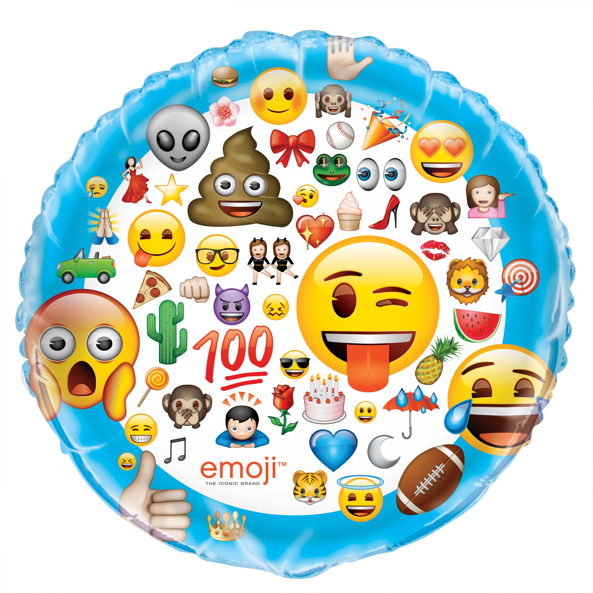 Giant Foil Emoji Balloon, 34 in, 1ct