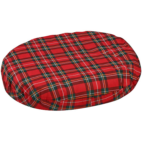 "DMI Convoluted Foam Ring Cushion, Plaid, 18"" x 15"" x 3"""