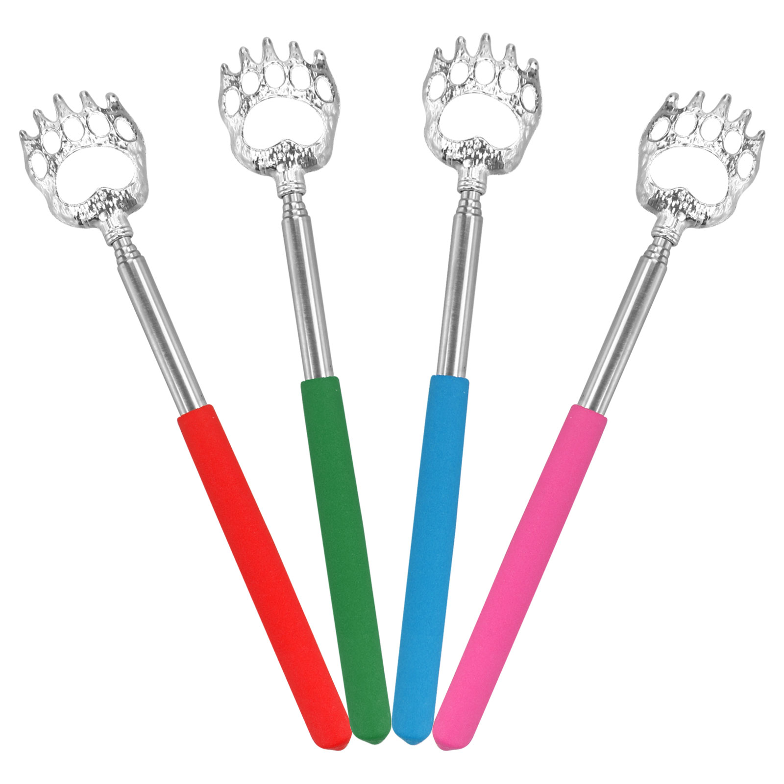 "4-pack 8.7"" Bear Claw Telescopic Back Scratcher Extends Random Pick Itch Relief"