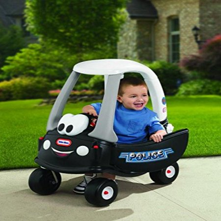 Little Tikes 615795M Cozy Coupe Ride-On Patrol Police Push Car w Working Horn by Unknown Police Pedal Sedan