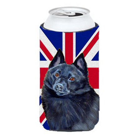 Schipperke With English Union Jack British Flag Tall Boy bottle sleeve Hugger - 22 To 24 Oz. - image 1 de 1