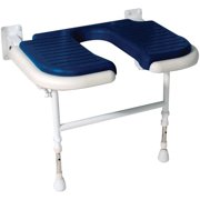 ARC DS4120-BU Deluxe Wide U-Shaped Seat without Back and Arms, Blue