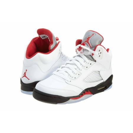 separation shoes 4f51d e514d UPC 676556989252. Kids Nike Air Jordan 5 Retro 440888 100 White Fire Red  Black ...