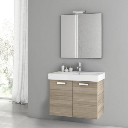 ACF by Nameeks ACF C03-LC Cubical 30-in. Single Bathroom Vanity Set - Larch Canapa