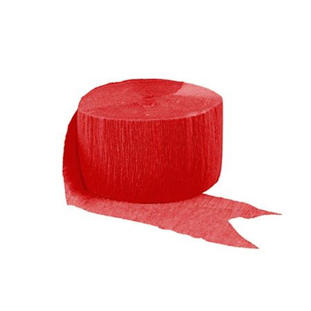 Apple Red Crepe Streamer 81 Ft (Streamers And Confetti)