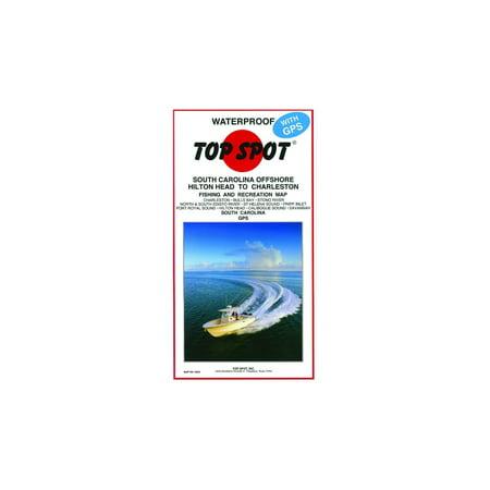 Top Spot Map- South Carolina Offshore-Hilton Head to Charleston,