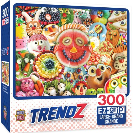 Trendz Funny Face Food Large 300 Piece EZGrip Jigsaw Puzzle (Jigsaw Face)