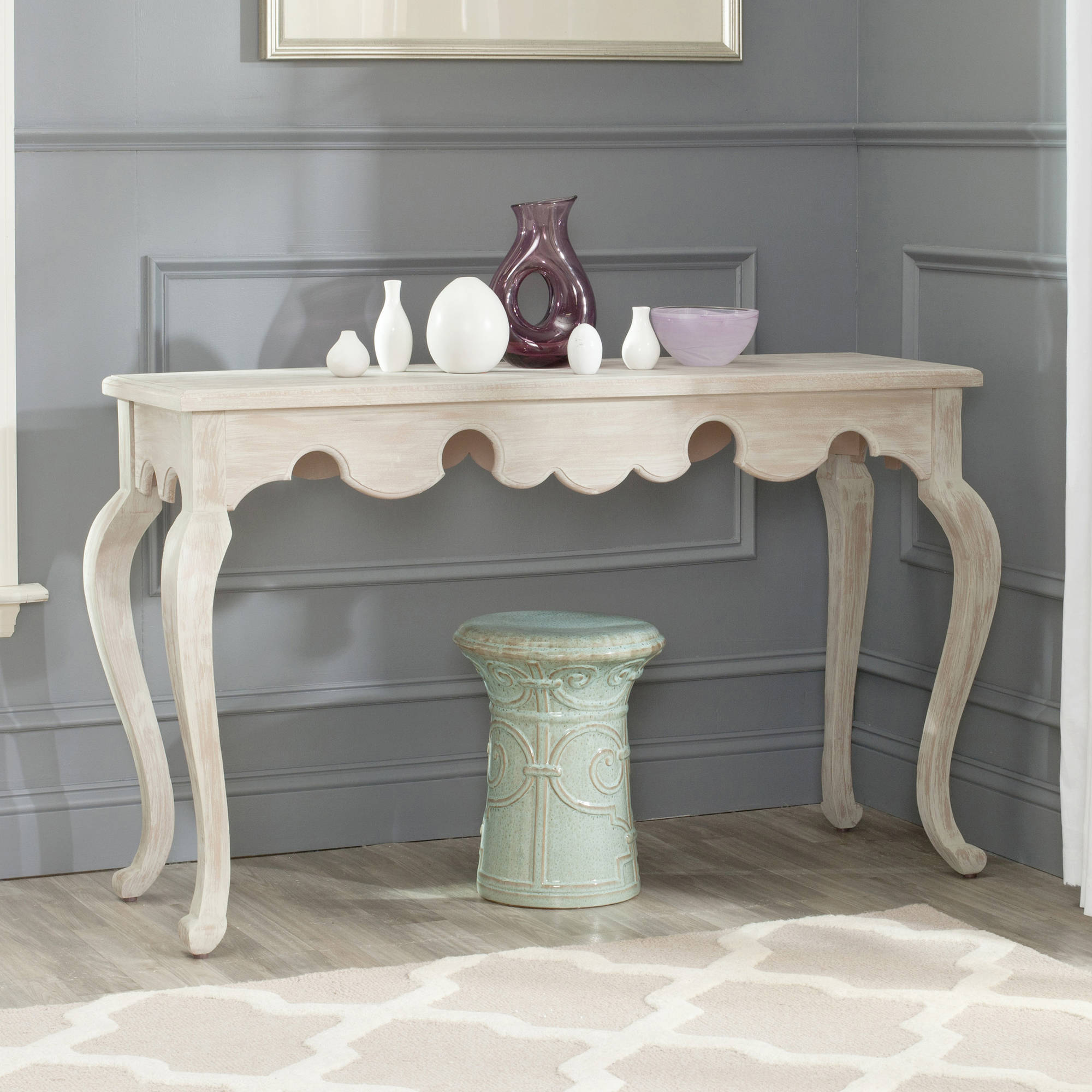 "Safavieh Becky 50"" Console, Weathered White"