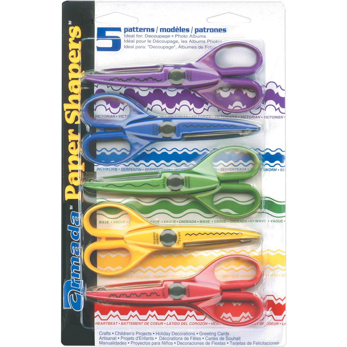 Armada Paper Shapers Scissors 5/Pkg-Set 1