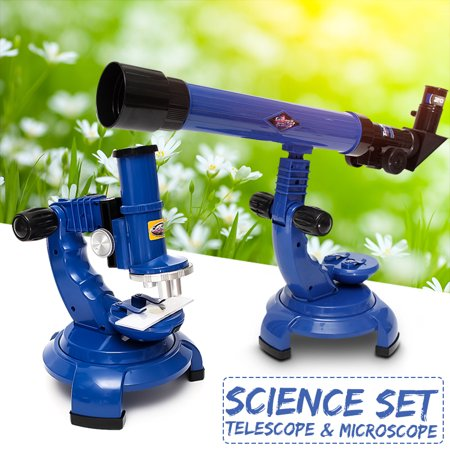 Astronomical 20x 30x 40x Telescope & 100x 200x 450x Microscope Educational Intelligence Toys Student Child New Year Gift Learn Science Nature Educational School Home Toy