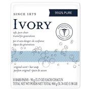 Ivory Bar Original Bath Bar, Family Pack, 3.1 Ounce Bars (10 Bars)