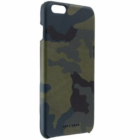 Cole Haan Slim Hard Leather Case Cover for iPhone 6s Plus 6 Plus - Dark Camo (Cole Haan Camo)