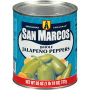 San Marcos Whole Jalapeno Peppers, 26 oz (Pack of 12)