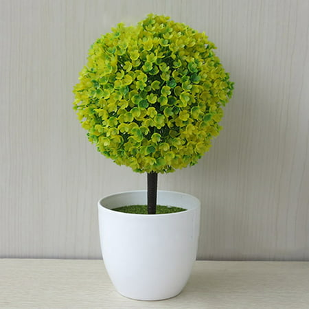 KABOER New Style Popular Artificial Outdoor Ball Plant Tree Pot Multi Colour Sakura Snowball ()