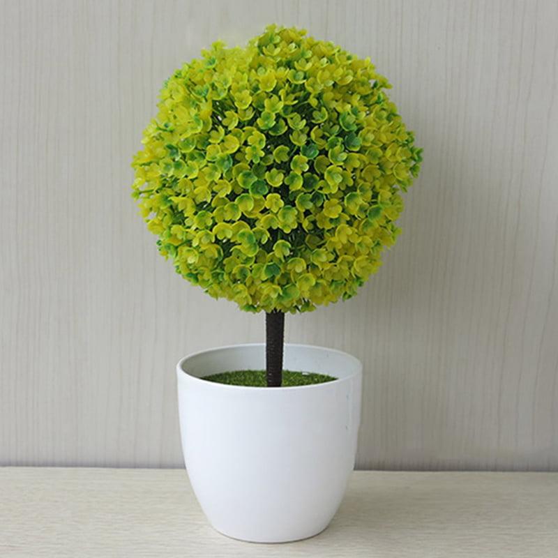 KABOER New Style Popular Artificial Outdoor Ball Plant Tree Pot Multi Colour Sakura Snowball