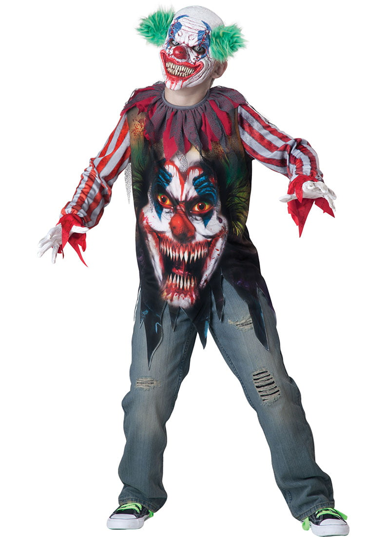 Killer Clown Halloween Costumes For Girls.Kids Killer Klown Boys Horror Halloween Costume