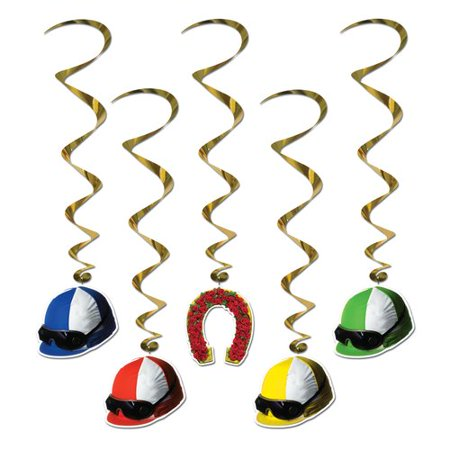 The Party Aisle 5 Piece Jockey Helmet Whirl Set (Set of 6) (Jockey Helmet)