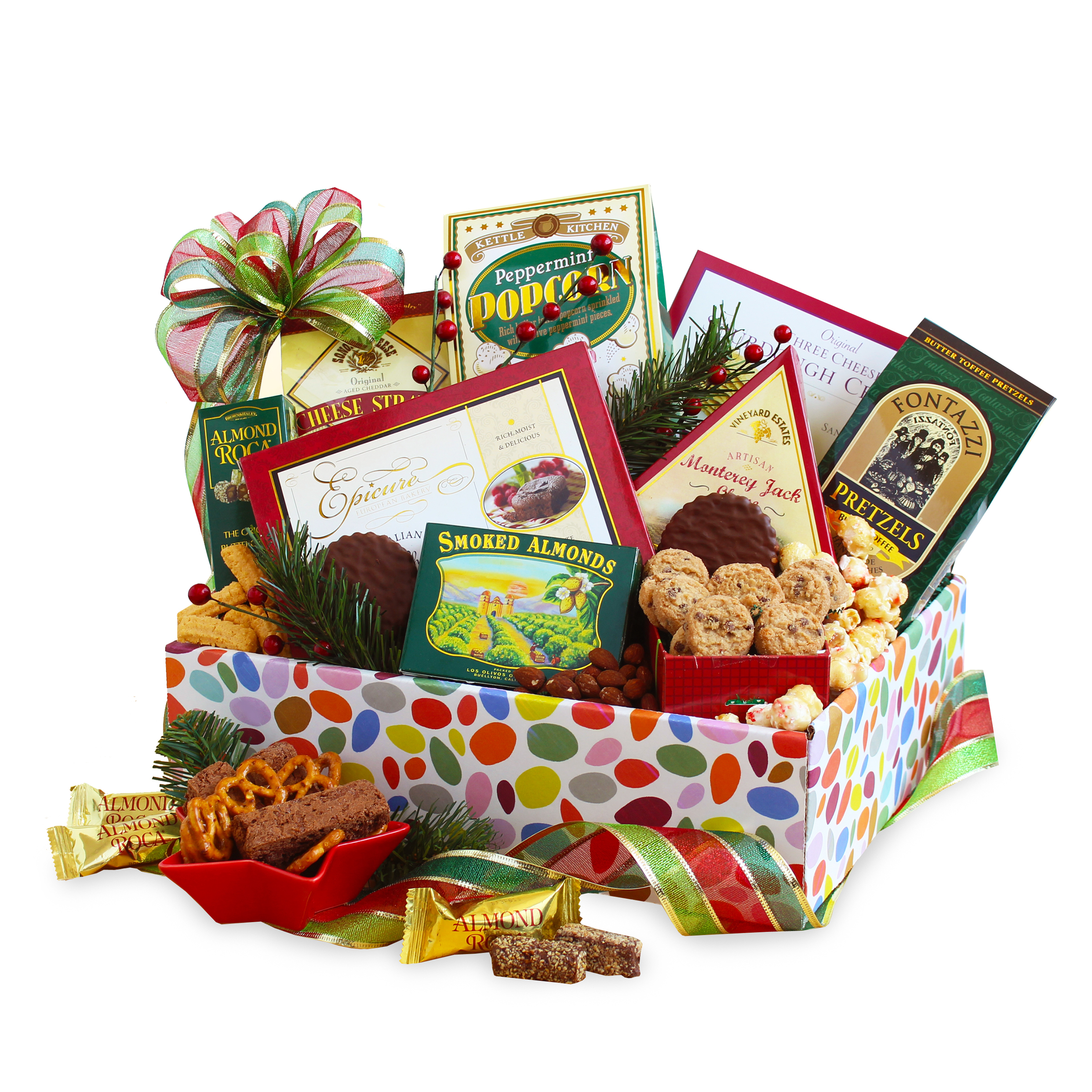 A California Delicious Christmas Lights Gourmet Gift Box Assortment For Her