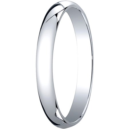 Mens Platinum, 3.0mm Traditional Dome Oval Wedding - Mens Platinum Wedding Band Ring