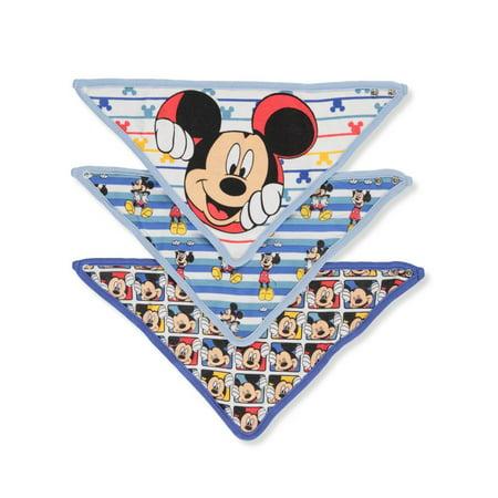 Disney Mickey Mouse Baby Boys' 3-Pack Bandana Bibs