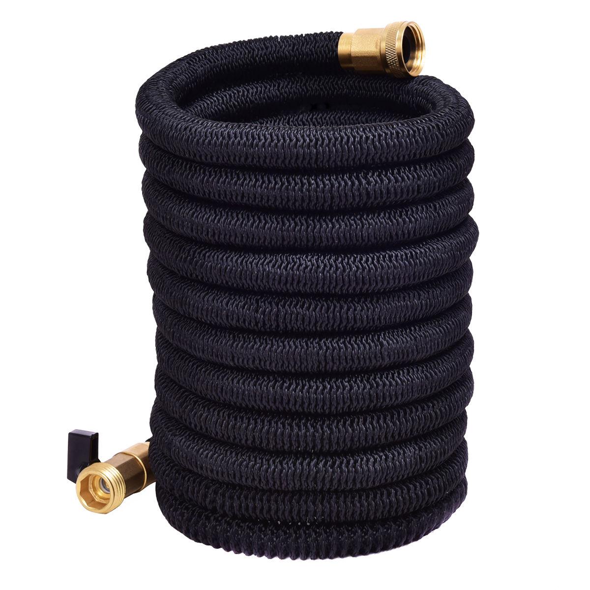 Costway 50FT Expanding Flexible Water Hose Pipe Home Garden Hose Watering Black