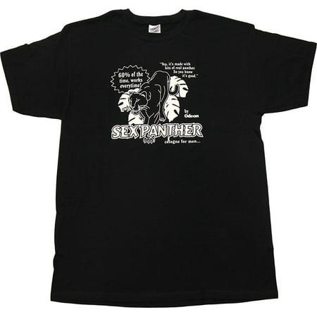 Anchorman Sex Panther Adult Black T-Shirt