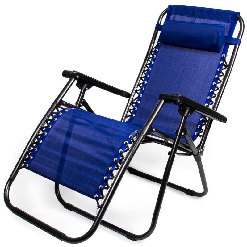 Brybelly Zero Gravity Folding Lounge Chair, Blue