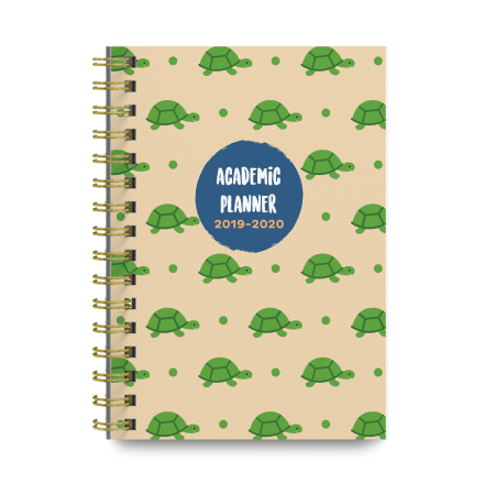 Turtles 2019-2020 Academic Monthly and Weekly Planner Cute College Agenda