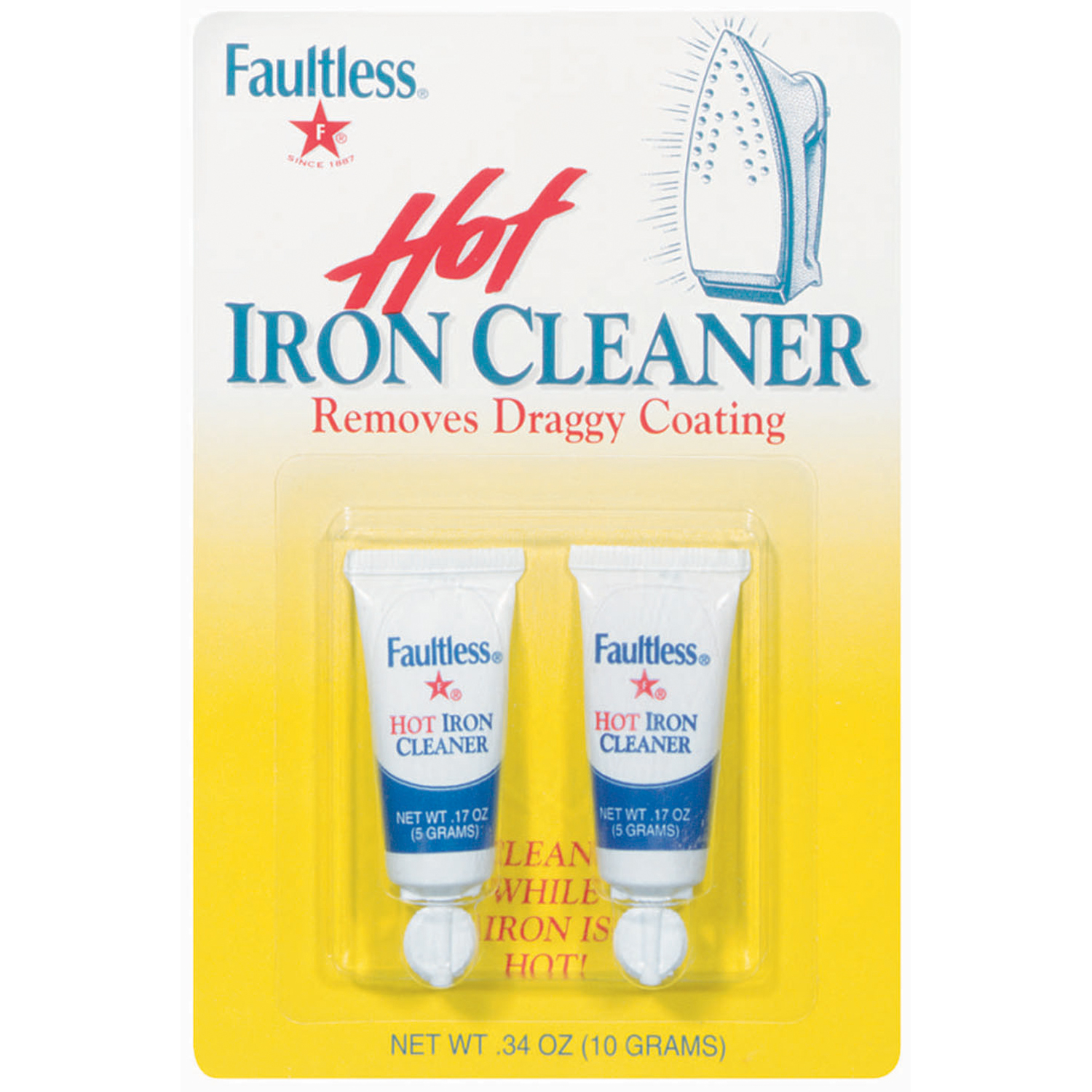 Faultless Hot Iron Cleaner 2 Ct Peg