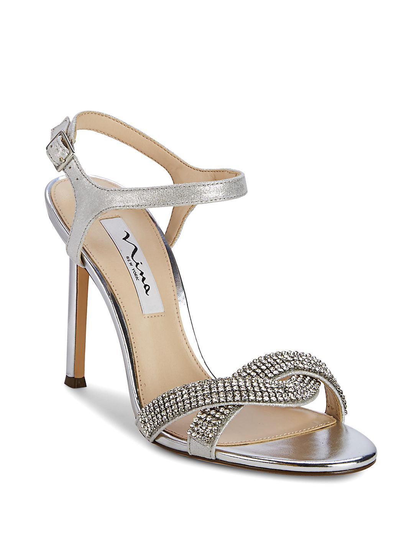 Davia Embellished Leather Stilettos