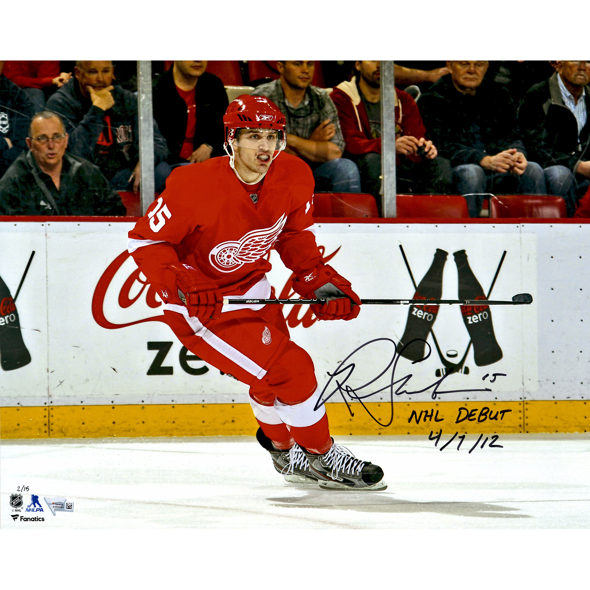 """Riley Sheahan Detroit Red Wings Fanatics Authentic Autographed 16"""" x 20"""" Debut Skating Photograph with NHL... by Fanatics Authentic"""