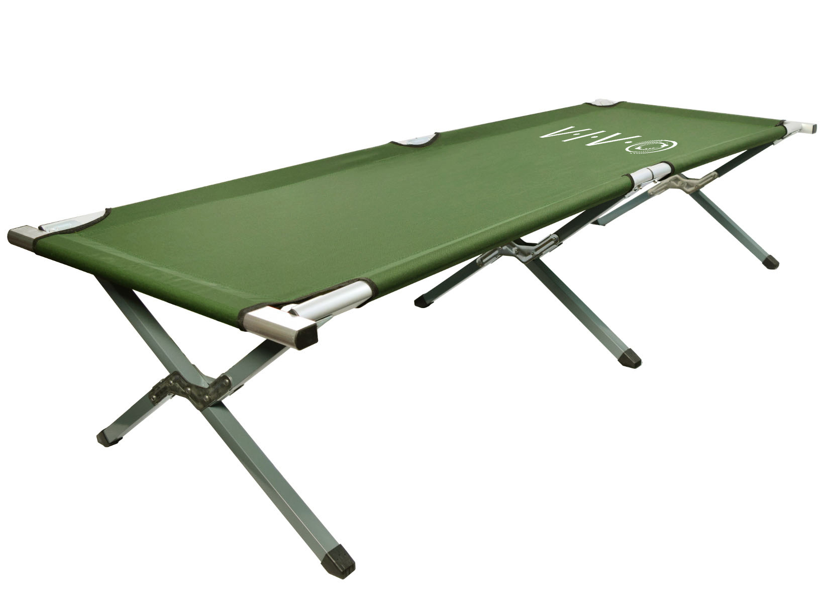 VIVO Green Cot Fold up Bed, Folding, Portable for Camping with Carry Bag (COT-V01) by Vivo
