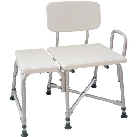 AquaSense Adjustable Bariatric Transfer Bench with Armrest, Heavy ...