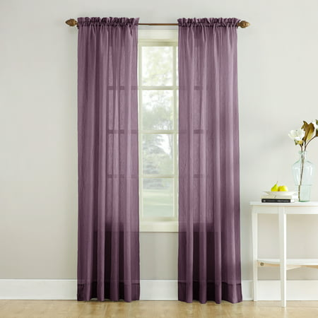 No. 918 Jillian Crushed Voile Sheer Rod Pocket Curtain Panel ()