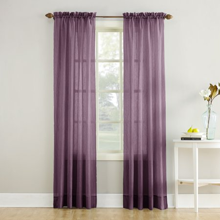No. 918 Jillian Crushed Voile Sheer Rod Pocket Curtain Panel