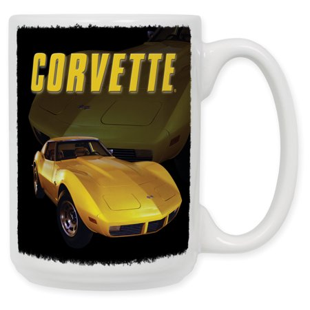 Rays Mug - 15 Ounce Ceramic Coffee Mug - Yellow Sting Ray