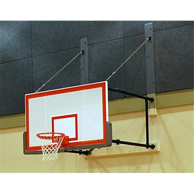 Gared Sports 2300-9120A Four Point Wall Mount Series Extension Fan Shape Board for Adjust-a-Goal