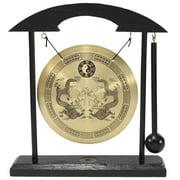ERROR Zen Table Gong Dragon with Taiji Symbols Feng Shui Meditation Desk Bell Home Decor Housewarming Congratulatory Blessing Gift US Seller